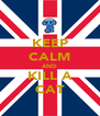 KEEP CALM AND KILL A CAT - Personalised Poster A4 size