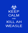 KEEP CALM AND KILL AH WEASLE - Personalised Poster A4 size