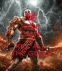 KEEP CALM AND KILL ALL THE GODS - Personalised Poster A4 size