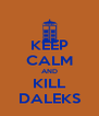 KEEP CALM AND KILL DALEKS - Personalised Poster A4 size
