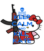KEEP CALM AND KILL  KATE - Personalised Poster A4 size