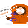 KEEP CALM AND KILL KENNY - Personalised Poster A4 size