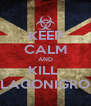 KEEP CALM AND KILL  LAGONIGRO - Personalised Poster A4 size