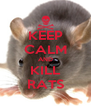 KEEP CALM AND KILL RATS - Personalised Poster A4 size
