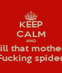 KEEP CALM AND Kill that mother  Fucking spider - Personalised Poster A4 size