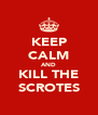 KEEP CALM AND KILL THE SCROTES - Personalised Poster A4 size