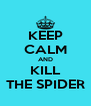 KEEP CALM AND KILL THE SPIDER - Personalised Poster A4 size