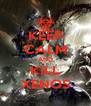 KEEP CALM AND KILL XENOS - Personalised Poster A4 size