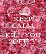 KEEP CALM AND KILL YOU SOFTLY - Personalised Poster A4 size