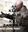 KEEP CALM AND KILL ZAKHAEV - Personalised Poster A4 size