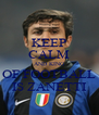 KEEP CALM AND KING OF FOOTBALL IS ZANETTI - Personalised Poster A4 size