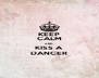KEEP CALM AND KISS A DANCER - Personalised Poster A4 size