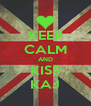 KEEP CALM AND KISS KAJ - Personalised Poster A4 size