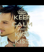 KEEP CALM AND KISS KISS - Personalised Poster A4 size