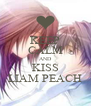KEEP CALM AND KISS LIAM PEACH - Personalised Poster A4 size
