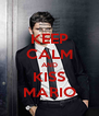 KEEP CALM AND KISS MARIO - Personalised Poster A4 size