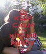 KEEP CALM AND KİSS ME MİRÖY - Personalised Poster A4 size