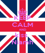 KEEP CALM AND kiss  Niamh - Personalised Poster A4 size