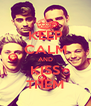 KEEP CALM AND KISS THEM - Personalised Poster A4 size