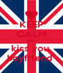 KEEP CALM AND kiss you  boyfriend  - Personalised Poster A4 size