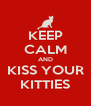 KEEP CALM AND KISS YOUR KITTIES - Personalised Poster A4 size
