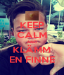 KEEP CALM AND KLÄMM EN FINNE - Personalised Poster A4 size