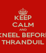 KEEP CALM AND KNEEL BEFORE THRANDUIL - Personalised Poster A4 size