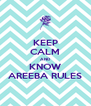 KEEP CALM AND KNOW AREEBA RULES - Personalised Poster A4 size