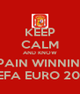 KEEP CALM AND KNOW SPAIN WINNING UEFA EURO 2012 - Personalised Poster A4 size