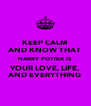KEEP CALM AND KNOW THAT HARRY POTTER IS YOUR LOVE, LIFE, AND EVERYTHING - Personalised Poster A4 size