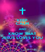 KEEP CALM AND KNOW THAT JESUS LOVES YOU - Personalised Poster A4 size