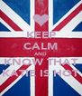 KEEP CALM AND KNOW THAT KATIE IS HOT - Personalised Poster A4 size