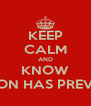 KEEP CALM AND KNOW THE LION HAS PREVAILED - Personalised Poster A4 size