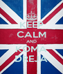 KEEP CALM AND KOMA DREJA - Personalised Poster A4 size