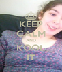 KEEP CALM AND KOOL IT - Personalised Poster A4 size