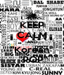 """KEEP CALM AND """"Korean""""  """"POP"""" - Personalised Poster A4 size"""