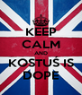 KEEP CALM AND KOSTUŚ IS DOPE - Personalised Poster A4 size