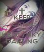 KEEP CALM AND KRISTÝNKY DARLING - Personalised Poster A4 size