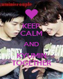 KEEP CALM AND KYUMIN TOGETHER - Personalised Poster A4 size