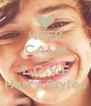 KEEP CALM AND L.O.V.E Harry Styles - Personalised Poster A4 size