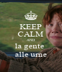 KEEP CALM AND la gente  alle urne - Personalised Poster A4 size