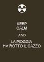 KEEP CALM AND LA PIOGGIA HA ROTTO IL CAZZO - Personalised Poster A4 size