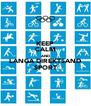 KEEP CALM AND LANGA DIREKTSAND SPORT - Personalised Poster A4 size
