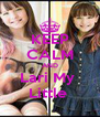 KEEP CALM AND Lari My  Little  - Personalised Poster A4 size