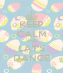 KEEP CALM AND LAT'S DANCE - Personalised Poster A4 size