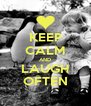 KEEP CALM AND LAUGH OFTEN - Personalised Poster A4 size