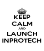 KEEP CALM AND LAUNCH INPROTECH - Personalised Poster A4 size