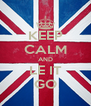 KEEP CALM AND LE IT GO - Personalised Poster A4 size