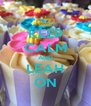 KEEP CALM AND LEAH ON - Personalised Poster A4 size