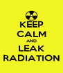 KEEP CALM AND LEAK RADIATION - Personalised Poster A4 size